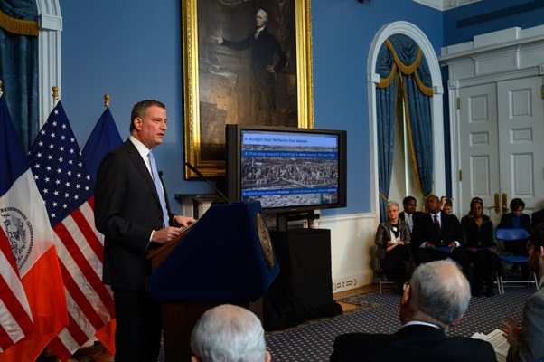 Mayor de Blasio Issues Preliminary Budget for Fiscal Year 2015, Updates the City's Financial Plan for 2014-2018
