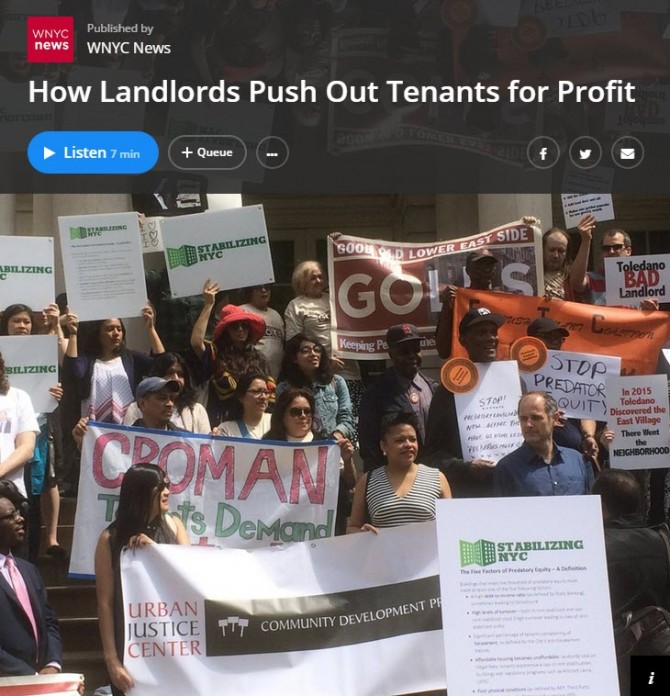 How Landlords Push Out Tenants for Profit [audio]