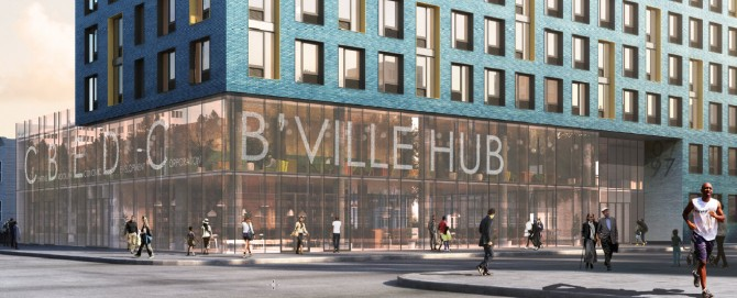 Architect's rendering. B'ville Hub - Innovation and Entrepreneurship