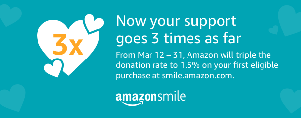 Triple AmazonSmile donation promotion starts today